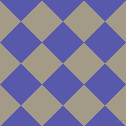 45/135 degree angle diagonal checkered chequered squares checker pattern checkers background, 125 pixel square size, , Rich Blue and Napa checkers chequered checkered squares seamless tileable
