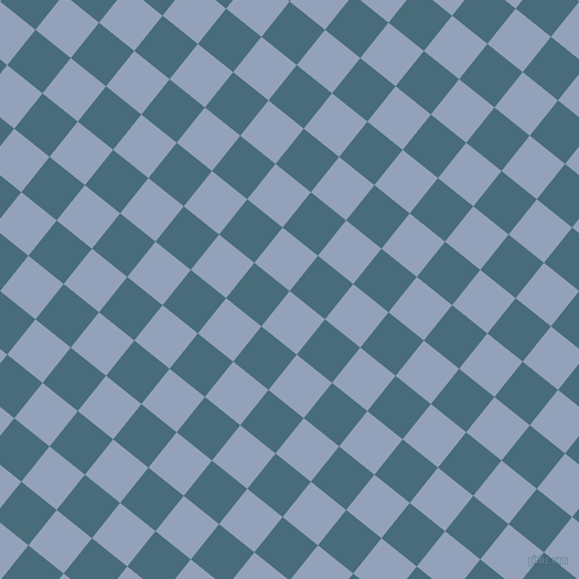 51/141 degree angle diagonal checkered chequered squares checker pattern checkers background, 41 pixel square size, , Rock Blue and Bismark checkers chequered checkered squares seamless tileable