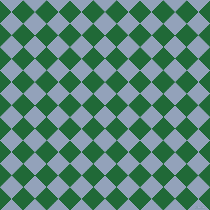 45/135 degree angle diagonal checkered chequered squares checker pattern checkers background, 57 pixel square size, , Rock Blue and Camarone checkers chequered checkered squares seamless tileable