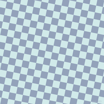 79/169 degree angle diagonal checkered chequered squares checker pattern checkers background, 27 pixel square size, , Rock Blue and Oyster Bay checkers chequered checkered squares seamless tileable