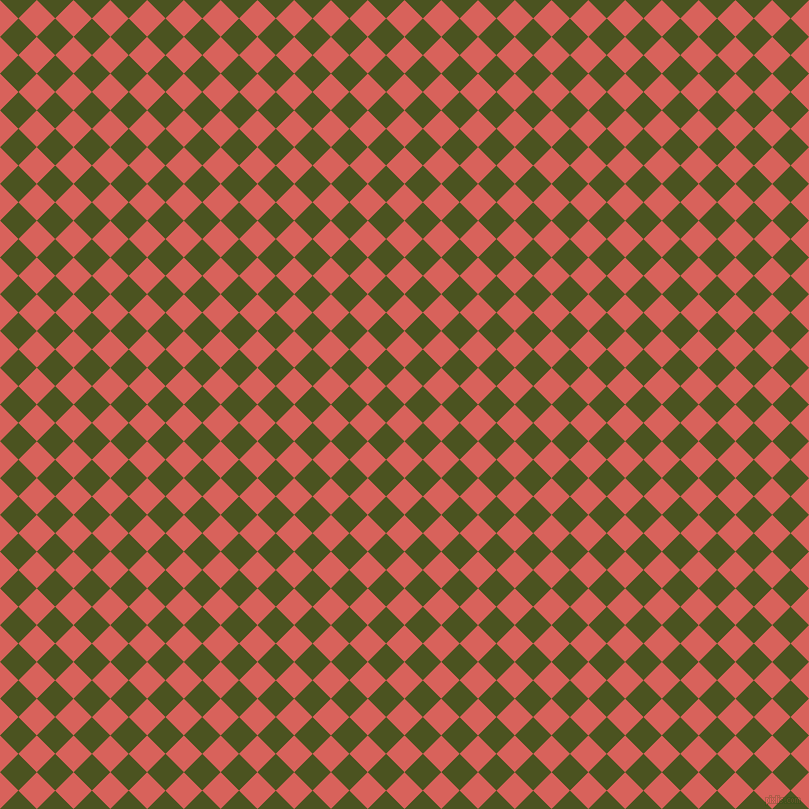 45/135 degree angle diagonal checkered chequered squares checker pattern checkers background, 26 pixel squares size, , Roman and Army green checkers chequered checkered squares seamless tileable