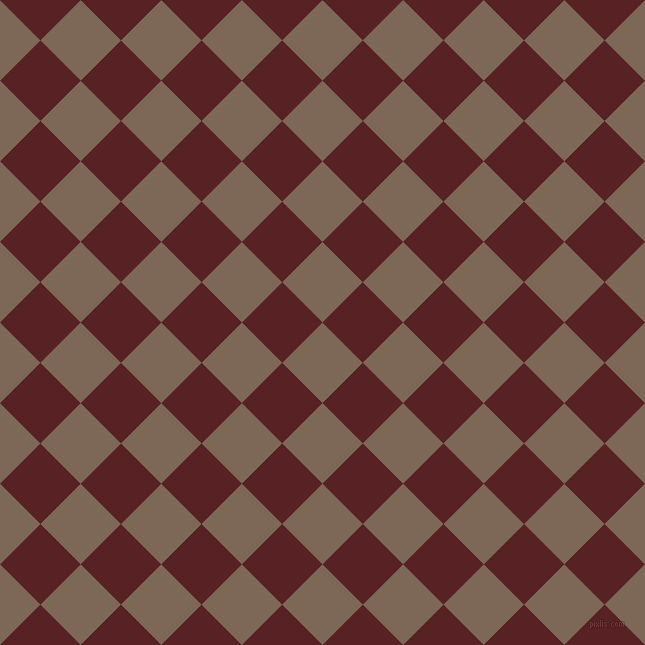45/135 degree angle diagonal checkered chequered squares checker pattern checkers background, 57 pixel square size, , Roman Coffee and Burnt Crimson checkers chequered checkered squares seamless tileable