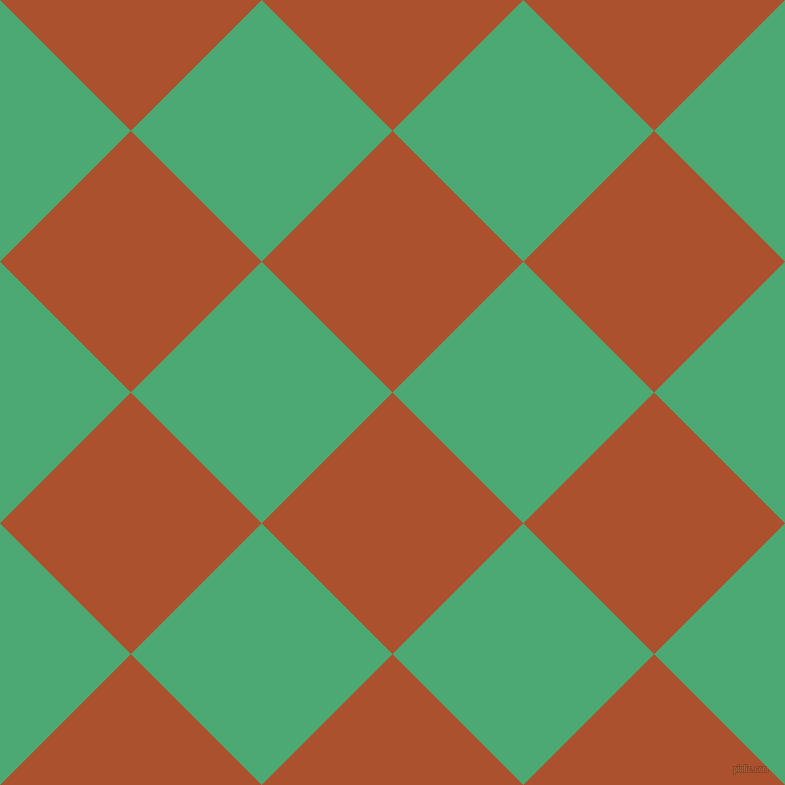 45/135 degree angle diagonal checkered chequered squares checker pattern checkers background, 185 pixel square size, , Rose Of Sharon and Ocean Green checkers chequered checkered squares seamless tileable