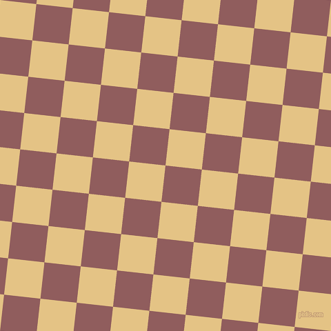 84/174 degree angle diagonal checkered chequered squares checker pattern checkers background, 53 pixel square size, , Rose Taupe and New Orleans checkers chequered checkered squares seamless tileable