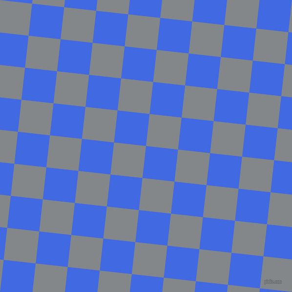84/174 degree angle diagonal checkered chequered squares checker pattern checkers background, 66 pixel squares size, , Royal Blue and Aluminium checkers chequered checkered squares seamless tileable