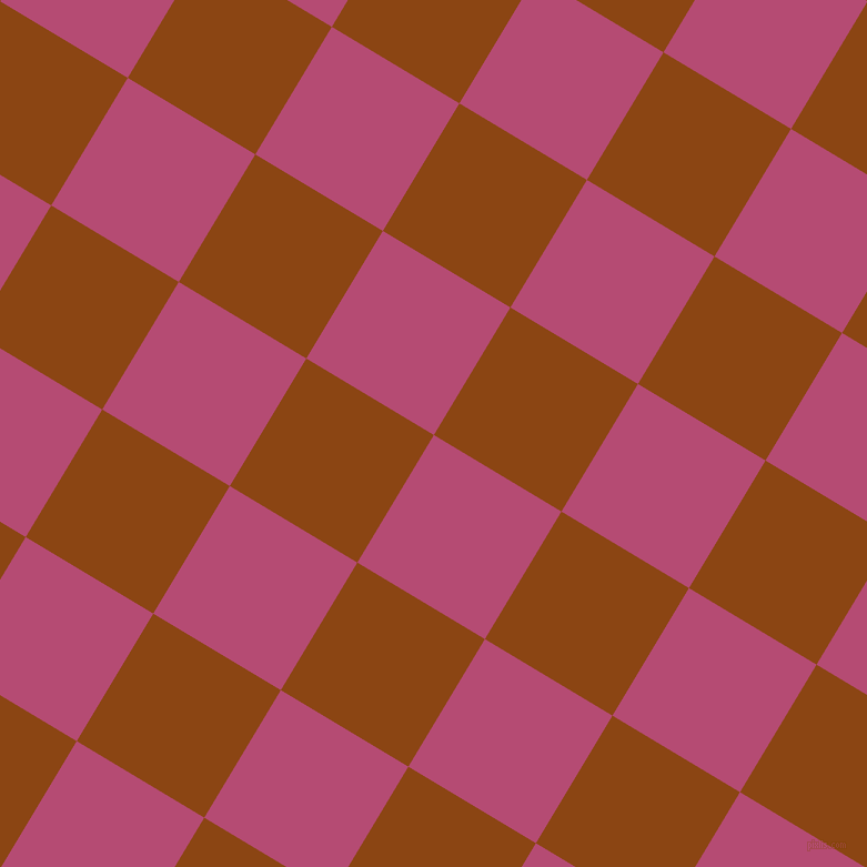 59/149 degree angle diagonal checkered chequered squares checker pattern checkers background, 134 pixel square size, , Royal Heath and Saddle Brown checkers chequered checkered squares seamless tileable