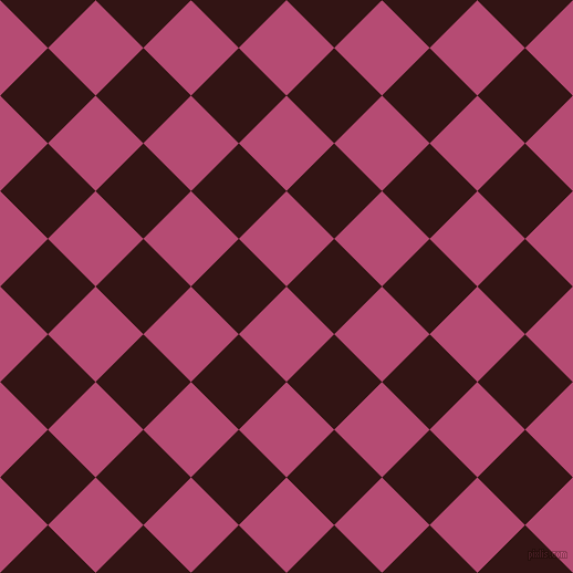 45/135 degree angle diagonal checkered chequered squares checker pattern checkers background, 61 pixel square size, , Royal Heath and Seal Brown checkers chequered checkered squares seamless tileable