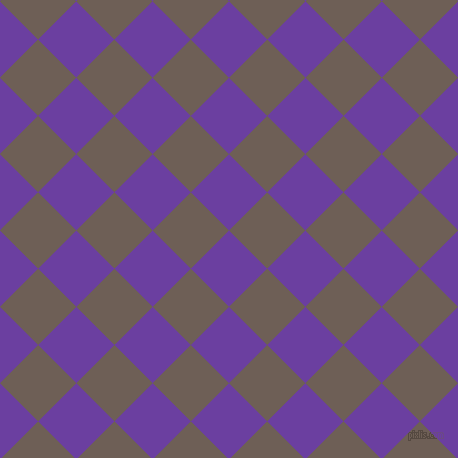45/135 degree angle diagonal checkered chequered squares checker pattern checkers background, 54 pixel square size, , Royal Purple and Dorado checkers chequered checkered squares seamless tileable