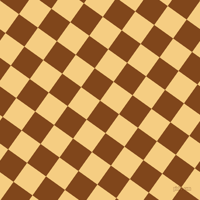 54/144 degree angle diagonal checkered chequered squares checker pattern checkers background, 47 pixel square size, , Russet and Cherokee checkers chequered checkered squares seamless tileable