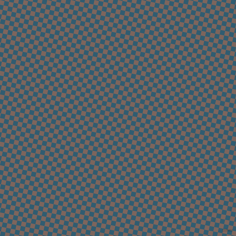 79/169 degree angle diagonal checkered chequered squares checker pattern checkers background, 16 pixel square size, Russett and Blumine checkers chequered checkered squares seamless tileable