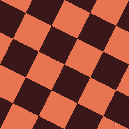 63/153 degree angle diagonal checkered chequered squares checker pattern checkers background, 99 pixel squares size, , Rustic Red and Burnt Sienna checkers chequered checkered squares seamless tileable