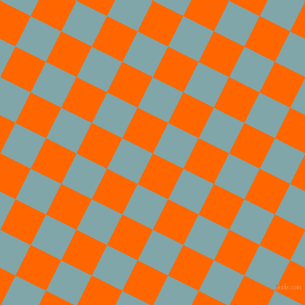 63/153 degree angle diagonal checkered chequered squares checker pattern checkers background, 48 pixel square size, , Safety Orange and Ziggurat checkers chequered checkered squares seamless tileable