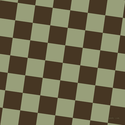 82/172 degree angle diagonal checkered chequered squares checker pattern checkers background, 59 pixel squares size, , Sage and Clinker checkers chequered checkered squares seamless tileable