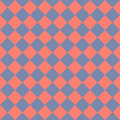 45/135 degree angle diagonal checkered chequered squares checker pattern checkers background, 44 pixel square size, , Salmon and Ship Cove checkers chequered checkered squares seamless tileable