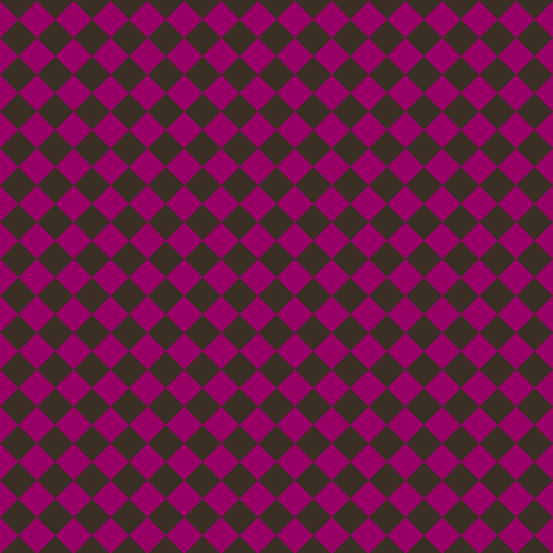 45/135 degree angle diagonal checkered chequered squares checker pattern checkers background, 38 pixel squares size, , Sambuca and Eggplant checkers chequered checkered squares seamless tileable