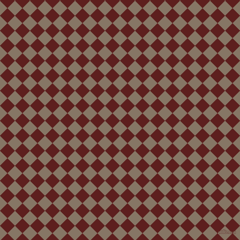 45/135 degree angle diagonal checkered chequered squares checker pattern checkers background, 21 pixel squares size, , Sand Dune and Red Oxide checkers chequered checkered squares seamless tileable