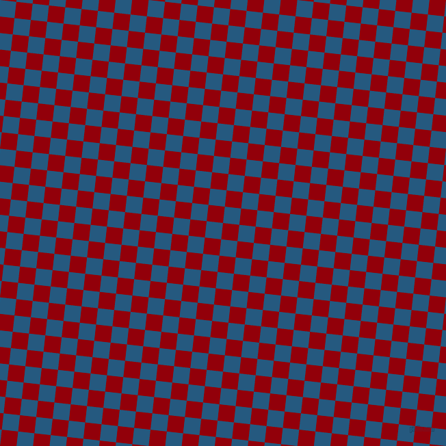 84/174 degree angle diagonal checkered chequered squares checker pattern checkers background, 24 pixel square size, , Sangria and Bahama Blue checkers chequered checkered squares seamless tileable