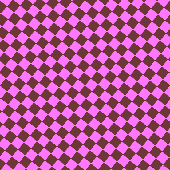 49/139 degree angle diagonal checkered chequered squares checker pattern checkers background, 30 pixel square size, , Sanguine Brown and Fuchsia Pink checkers chequered checkered squares seamless tileable