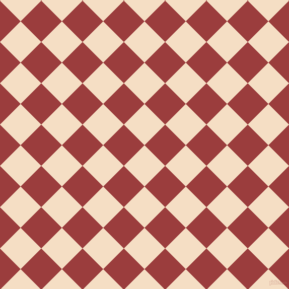 45/135 degree angle diagonal checkered chequered squares checker pattern checkers background, 58 pixel squares size, , Sazerac and Mexican Red checkers chequered checkered squares seamless tileable