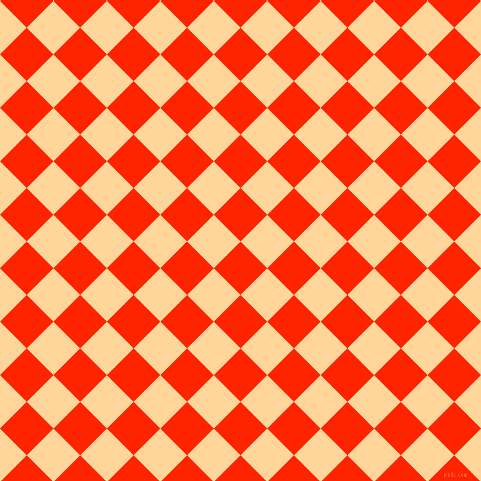 45/135 degree angle diagonal checkered chequered squares checker pattern checkers background, 55 pixel square size, , Scarlet and Caramel checkers chequered checkered squares seamless tileable