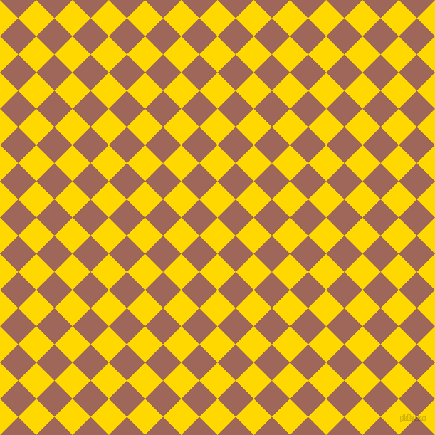 45/135 degree angle diagonal checkered chequered squares checker pattern checkers background, 36 pixel square size, , School Bus Yellow and Au Chico checkers chequered checkered squares seamless tileable