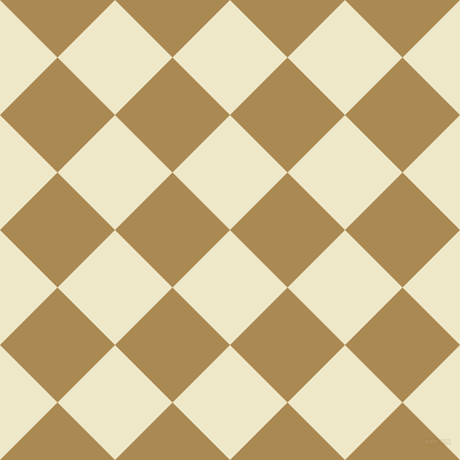 45/135 degree angle diagonal checkered chequered squares checker pattern checkers background, 114 pixel square size, , Scotch Mist and Teak checkers chequered checkered squares seamless tileable