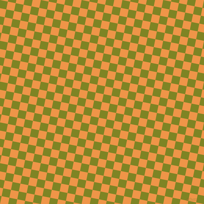 79/169 degree angle diagonal checkered chequered squares checker pattern checkers background, 26 pixel squares size, , Sea Buckthorn and Trendy Green checkers chequered checkered squares seamless tileable