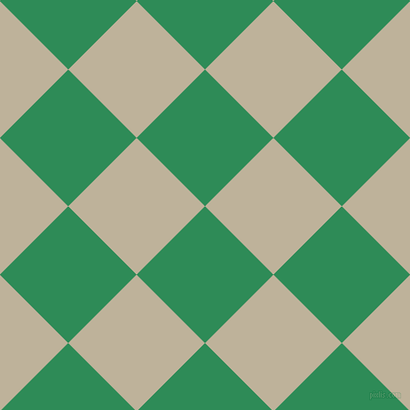 45/135 degree angle diagonal checkered chequered squares checker pattern checkers background, 109 pixel square size, , Sea Green and Akaroa checkers chequered checkered squares seamless tileable