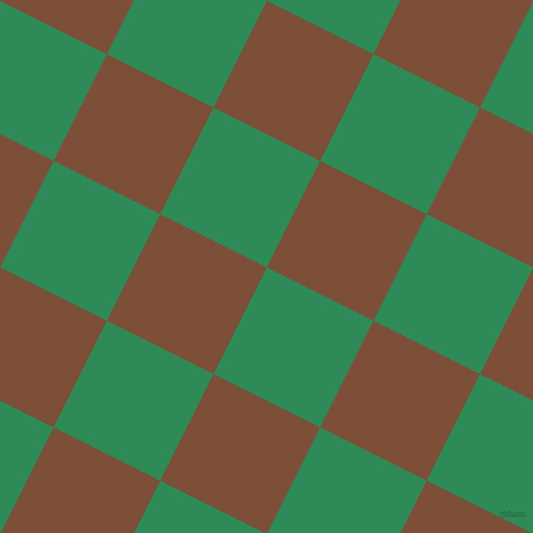 63/153 degree angle diagonal checkered chequered squares checker pattern checkers background, 172 pixel square size, , Sea Green and Cigar checkers chequered checkered squares seamless tileable