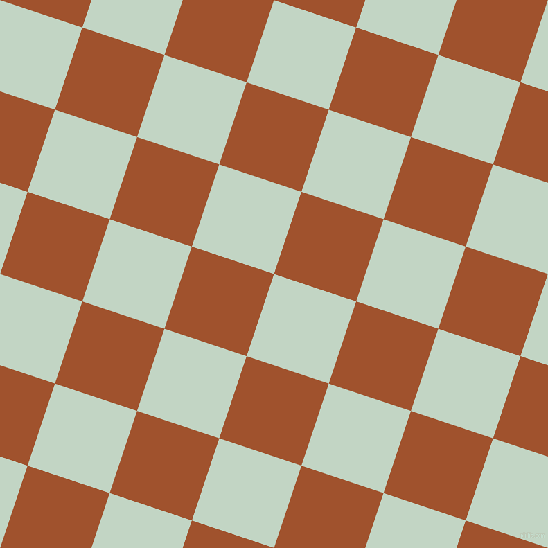 72/162 degree angle diagonal checkered chequered squares checker pattern checkers background, 125 pixel square size, , Sea Mist and Sienna checkers chequered checkered squares seamless tileable