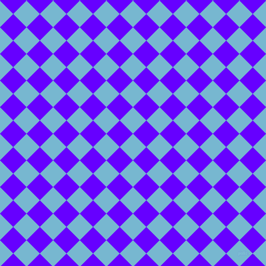 45/135 degree angle diagonal checkered chequered squares checker pattern checkers background, 37 pixel square size, , Seagull and Electric Indigo checkers chequered checkered squares seamless tileable