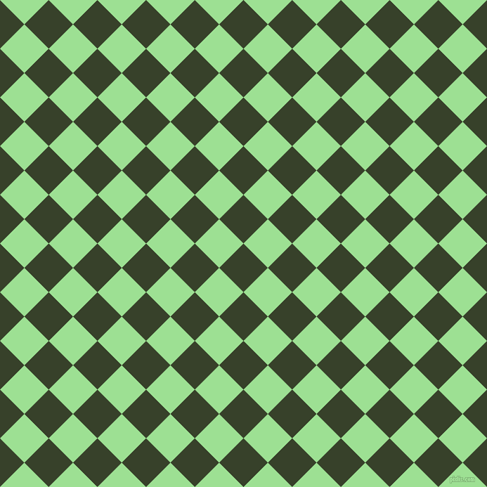 45/135 degree angle diagonal checkered chequered squares checker pattern checkers background, 49 pixel squares size, , Seaweed and Granny Smith Apple checkers chequered checkered squares seamless tileable