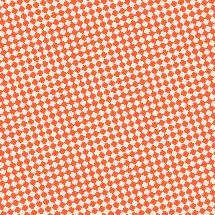 61/151 degree angle diagonal checkered chequered squares checker pattern checkers background, 21 pixel squares size, , Serenade and Outrageous Orange checkers chequered checkered squares seamless tileable
