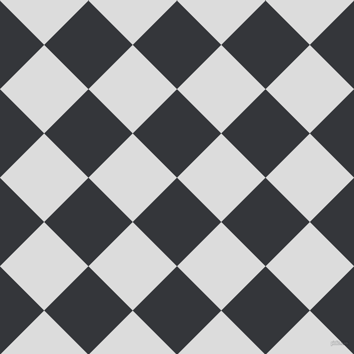 45/135 degree angle diagonal checkered chequered squares checker pattern checkers background, 127 pixel squares size, , Shark and Gainsboro checkers chequered checkered squares seamless tileable