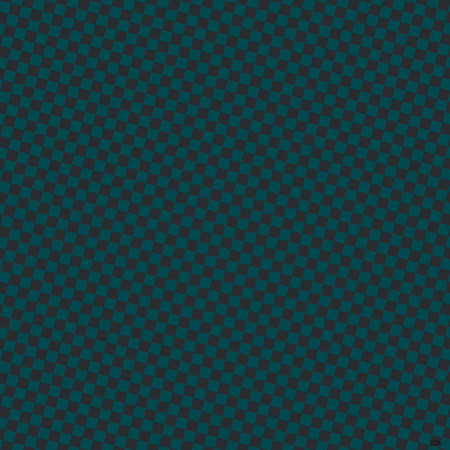 76/166 degree angle diagonal checkered chequered squares checker pattern checkers background, 22 pixel square size, Sherpa Blue and Bunker checkers chequered checkered squares seamless tileable