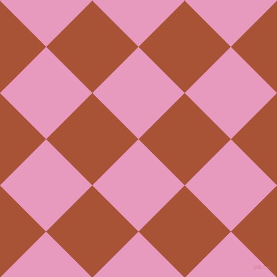 45/135 degree angle diagonal checkered chequered squares checker pattern checkers background, 133 pixel squares size, , Shocking and Orange Roughy checkers chequered checkered squares seamless tileable