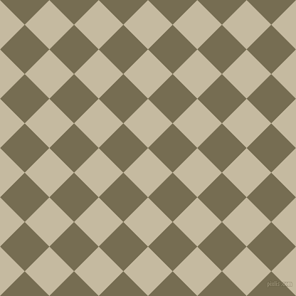 45/135 degree angle diagonal checkered chequered squares checker pattern checkers background, 49 pixel squares size, Sisal and Peat checkers chequered checkered squares seamless tileable