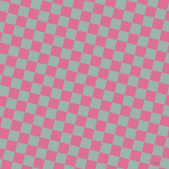76/166 degree angle diagonal checkered chequered squares checker pattern checkers background, 35 pixel square size, , Skeptic and Pale Violet Red checkers chequered checkered squares seamless tileable