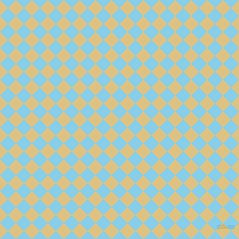 45/135 degree angle diagonal checkered chequered squares checker pattern checkers background, 23 pixel square size, , Sky Blue and Chalky checkers chequered checkered squares seamless tileable