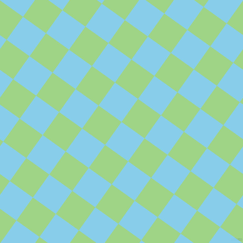 54/144 degree angle diagonal checkered chequered squares checker pattern checkers background, 92 pixel squares size, , Sky Blue and Gossip checkers chequered checkered squares seamless tileable