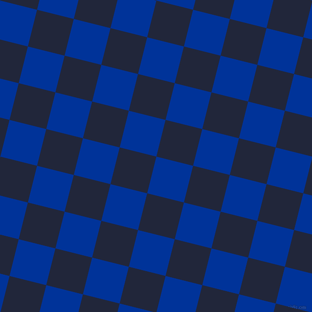 76/166 degree angle diagonal checkered chequered squares checker pattern checkers background, 74 pixel squares size, , Smalt and Midnight Express checkers chequered checkered squares seamless tileable
