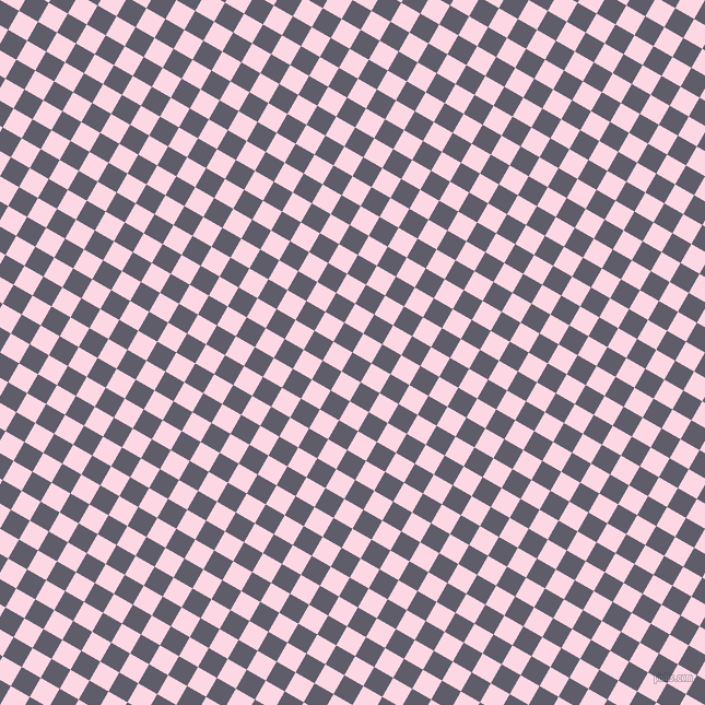 60/150 degree angle diagonal checkered chequered squares checker pattern checkers background, 20 pixel square size, Smoky and Pig Pink checkers chequered checkered squares seamless tileable