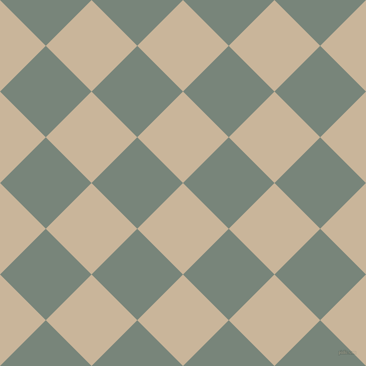 45/135 degree angle diagonal checkered chequered squares checker pattern checkers background, 129 pixel square size, , Sour Dough and Blue Smoke checkers chequered checkered squares seamless tileable