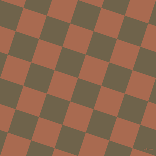 72/162 degree angle diagonal checkered chequered squares checker pattern checkers background, 95 pixel square size, Soya Bean and Sante Fe checkers chequered checkered squares seamless tileable