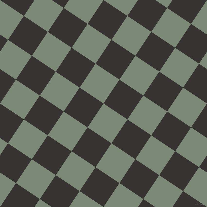 56/146 degree angle diagonal checkered chequered squares checker pattern checkers background, 118 pixel square size, Spanish Green and Gondola checkers chequered checkered squares seamless tileable