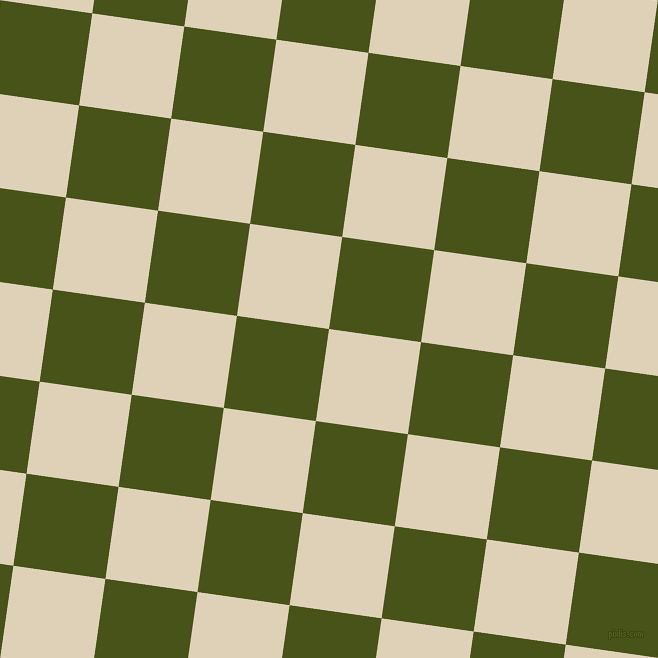 82/172 degree angle diagonal checkered chequered squares checker pattern checkers background, 93 pixel square size, , Spanish White and Verdun Green checkers chequered checkered squares seamless tileable