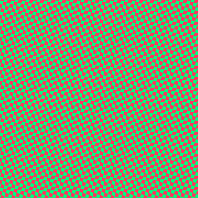 72/162 degree angle diagonal checkered chequered squares checker pattern checkers background, 12 pixel squares size, , Spring Green and Radical Red checkers chequered checkered squares seamless tileable