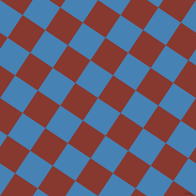 56/146 degree angle diagonal checkered chequered squares checker pattern checkers background, 93 pixel squares size, , Steel Blue and Crab Apple checkers chequered checkered squares seamless tileable