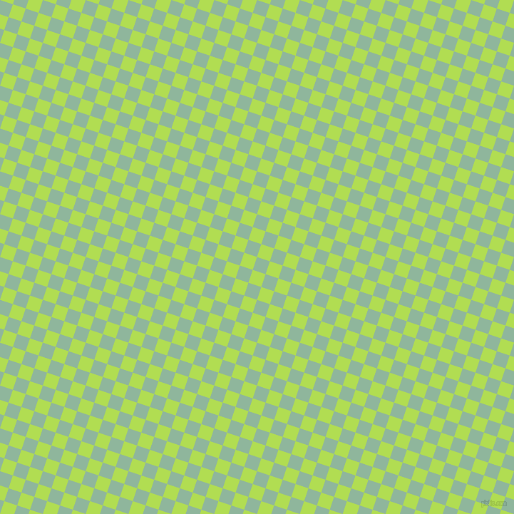 72/162 degree angle diagonal checkered chequered squares checker pattern checkers background, 19 pixel square size, , Summer Green and Conifer checkers chequered checkered squares seamless tileable