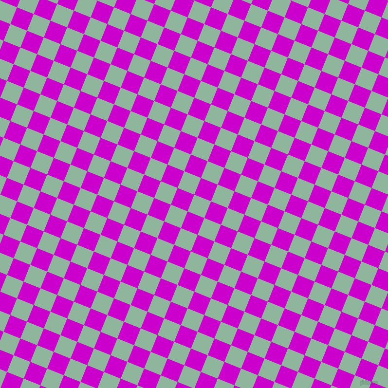 68/158 degree angle diagonal checkered chequered squares checker pattern checkers background, 37 pixel square size, , Summer Green and Deep Magenta checkers chequered checkered squares seamless tileable